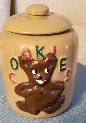 Vintage 1940's McCoy Bear Cookie Jar