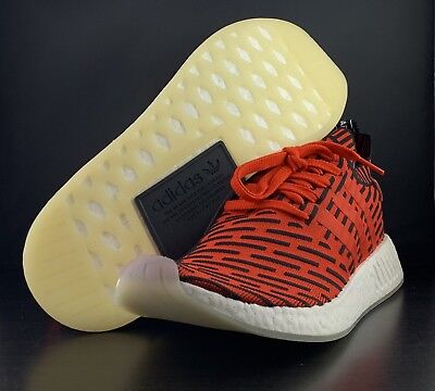 new styles 050ab 6bcf6 Adidas Nmd R2 Primeknit Shoes Core Red Core Black White Bb2910 Men s Size  12.5