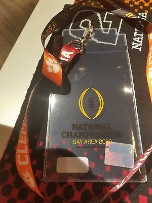 2019 College Football National Championship Lanyard & Ticket holder-NEW-