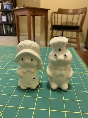 Vintage Pillsbury Doughboy & Girl Salt & Pepper Shakers