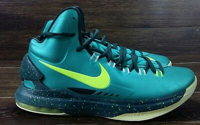 3a68b65464a3 NIKE ZOOM KD DURANT BASKETBALL SHOES 554988-300 Green MEN S SIZE 9.5 US VGUC