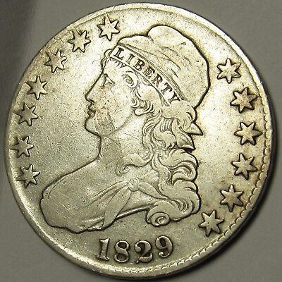 1829 Lettered Edge Capped Bust Half Dollar - Very Fine