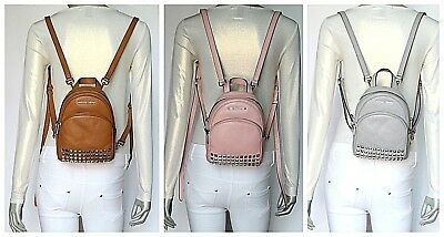 3f7679de06a1 MICHAEL KORS ABBEY XS Studded Leather Backpack NWT $348.00 - $159.95 ...