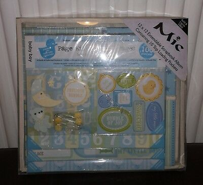 Baby boy scrapbook album with page kit. Brand New Never used