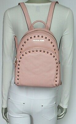 a8cd12bfe3af Michael Kors Abbey Medium Frame Out Stud Leather Backpack Pearl Grey  NWT$398.00