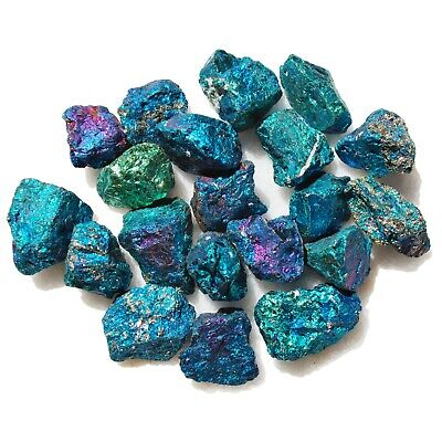 ~20 PCS AAA Grade CHARGED 650cts BABY PEACOCK™ ORE Chalcopyrite Crystals Healing