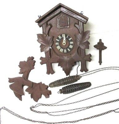 Antique Black Forest Cuckoo Clock Vintage Germany Parts Repair