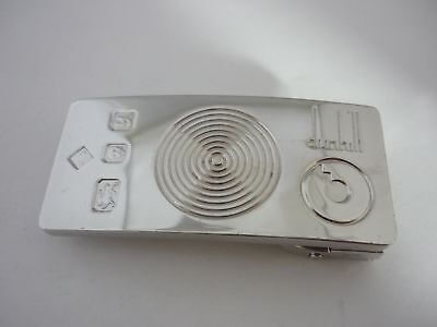 Unique One-Off Rare Genuine Large Alfred dunhill Sterling Silver Belt Buckle
