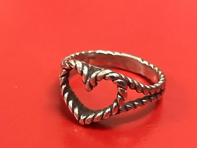 Retired Design James Avery Sterling Silver Twisted Wire Heart Ring Size 9 77 95 Picclick