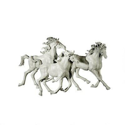 """25"""" x 16"""" - 3 Horse Sculptural Wall Prestige Equine Lovers Hand Crafted Passion"""