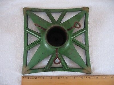 """Vintage Cast Iron Christmas Tree Stand - Base 9 1/4"""" Square"""