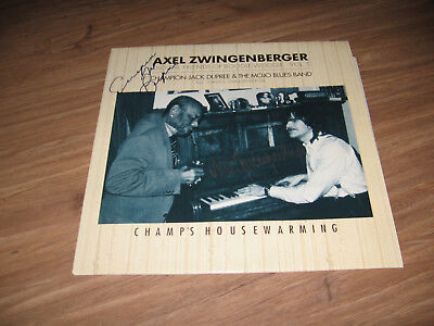 LP - Axel Zwingenberger Champion Jack Dupree Champ's Housewarming Singned