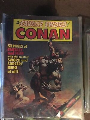 the savage sword of conan BRITISH 1977 including number 1