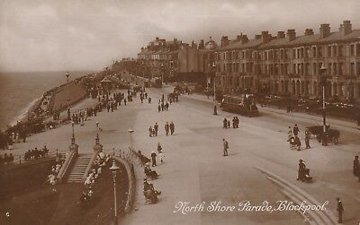 """""""Hundred Year old photo postcard from collection"""" Blackpool, North Shore Parade"""
