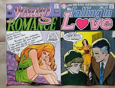 Young Romance # 165 & Falling In Love115 DC 1970 Fine