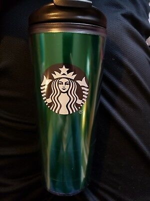 Starbucks 16oz Reusable Tumbler Cup With Lid Green Logo Coffee Cup Mug NEW!