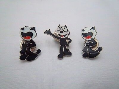 Wade - 3 Small Felix The Cat Badges/pins -  Excellent Condition