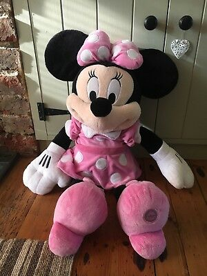 """Disney Store Stamped Minnie Mouse Plush Large 27"""""""