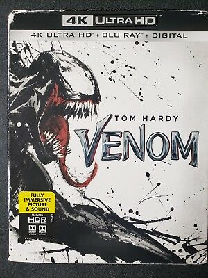 Venom (4K Ultra HD + Blu-ray + Digital; 2018) NEW with Slipcover