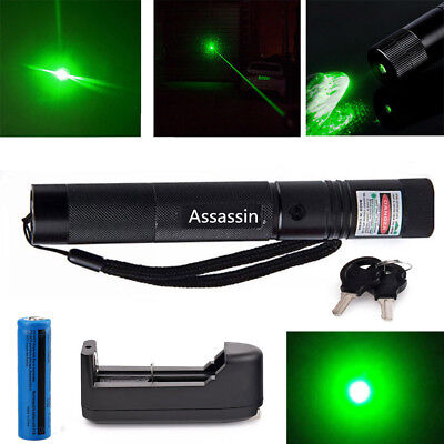 301 Green Laser Pointer Pen 532nm Visible Beam Lazer Ray 18650 Battery Charger