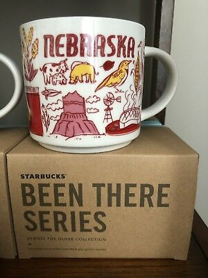 Starbucks Coffee Mug Been There Series Across The Globe Collection Nebraska
