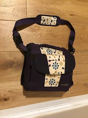 Munchkin Purple travel booster seat In Good Used Condition