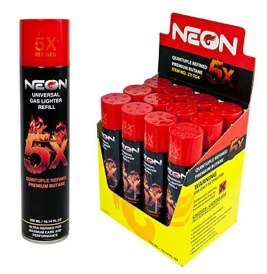 NEON 5X Butane Refill Fuel Fluid Ultra Refined 5 Times 300ML EAGLE TORCH Camping