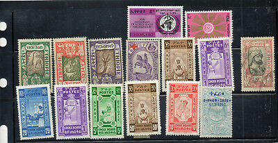 Stamps of Ethiopia,mint and FU, old to new, good value, nice lot.