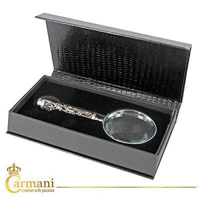 CARMANI - Handheld Magnifier with 3D metal Dragon pattern