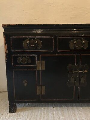 Antique Victorian Chinese Sideboard Cabinet