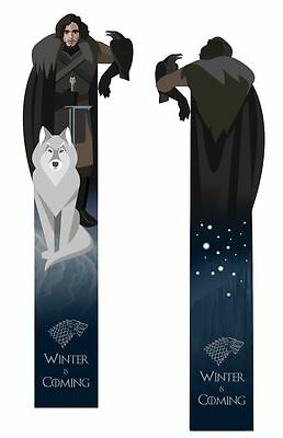 Jon Snow (Game of Thrones) two- sided laminated bookmark