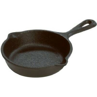 """Cast Iron Mini Skillet Eggs Camping Seasoning Pan Cooking Frying Small Cook 3.5"""""""