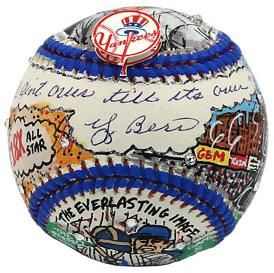"Yogi Berra Signed Charles Fazzino Baseball ""It Ain't Over"" JSA Z80582"