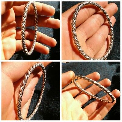 Extremely Ancient Viking Silver Bracelet Twisted Artifact Stunning