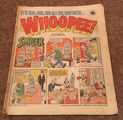 Whoopee Comic - 5Th December 1981