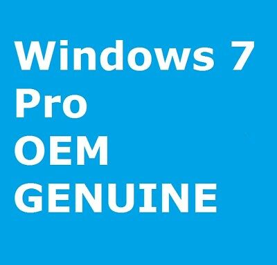 Microsoft Windows 7 Pro 32 or 64 BIT OEM Genuine License Key Product Code CHEAP
