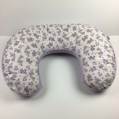 Boppy Pillow Cover Minky Purole Floral Slipcover Replacement Only
