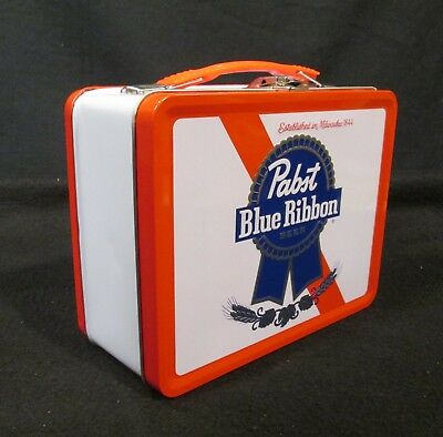 Rare Pabst Blue Ribbon Metal Lunch Box with Thermos New - Never Used