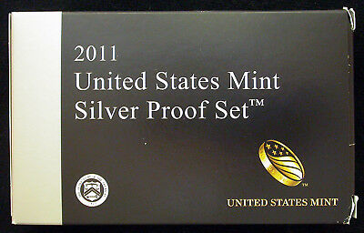 2011 Silver Proof Set (14 coins) with National Park Quarters & President Dollars