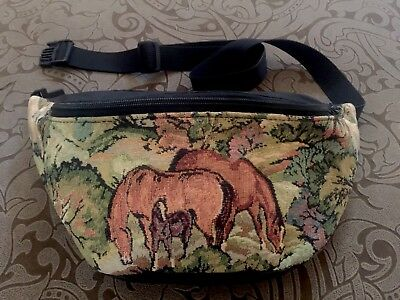 Vintage Horse Fanny Pack Tapestry Western Cowgirl Purse Bag