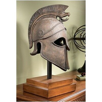 "25"" Ancient Greek Macedonian Helmet Museum Mount Model Sculpture"