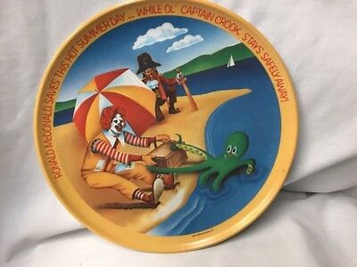 """Ronald McDonald  """"Saves This Hot Summer Day"""" Melamine Plate 9.75 inch"""