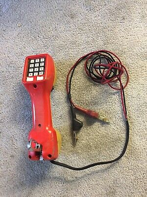HARRIS Dracon Model M332-1 Telephone Tester Lineman Buttset butt set phone