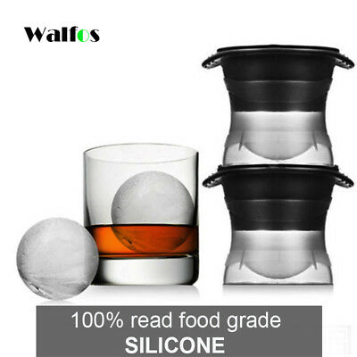2pcs Sphere Ice Molds Maker for Slow-melting Beverage Chillers 2.5 Inch Ball
