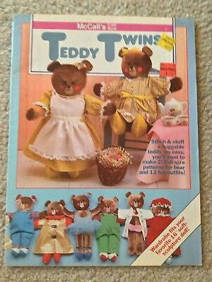 McCall's Teddy Twin Teddy Bear Pattern Making Booklet with Clothes Patterns