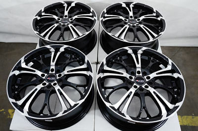 17 5x100 5x114.3 Black Wheels Fits Civic Eclipse Accord G35 Mazda 3 6 5 Lug Rims