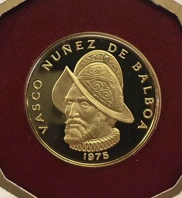 1975 Franklin Mint Proof 100 Balboa Gold Coin of the Republic of Panama