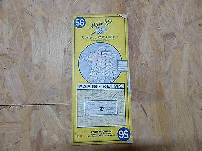 Carte Michelin n° 56 – Paris-Reims - 1963