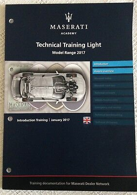 MASERATI 2017 Training Book Technical Training Light Model Range 2017 Historic