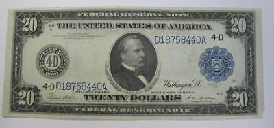 Series 1914 $20 Historic Federal Reserve Note * Nice Collection Addition!